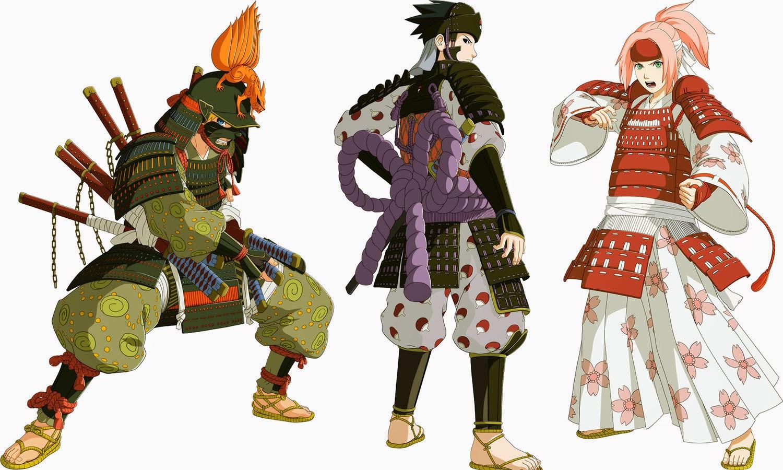 Naruto Storm Revolution Collector's Edition Naruto, Sasuke and Sakura Samurai Costumes