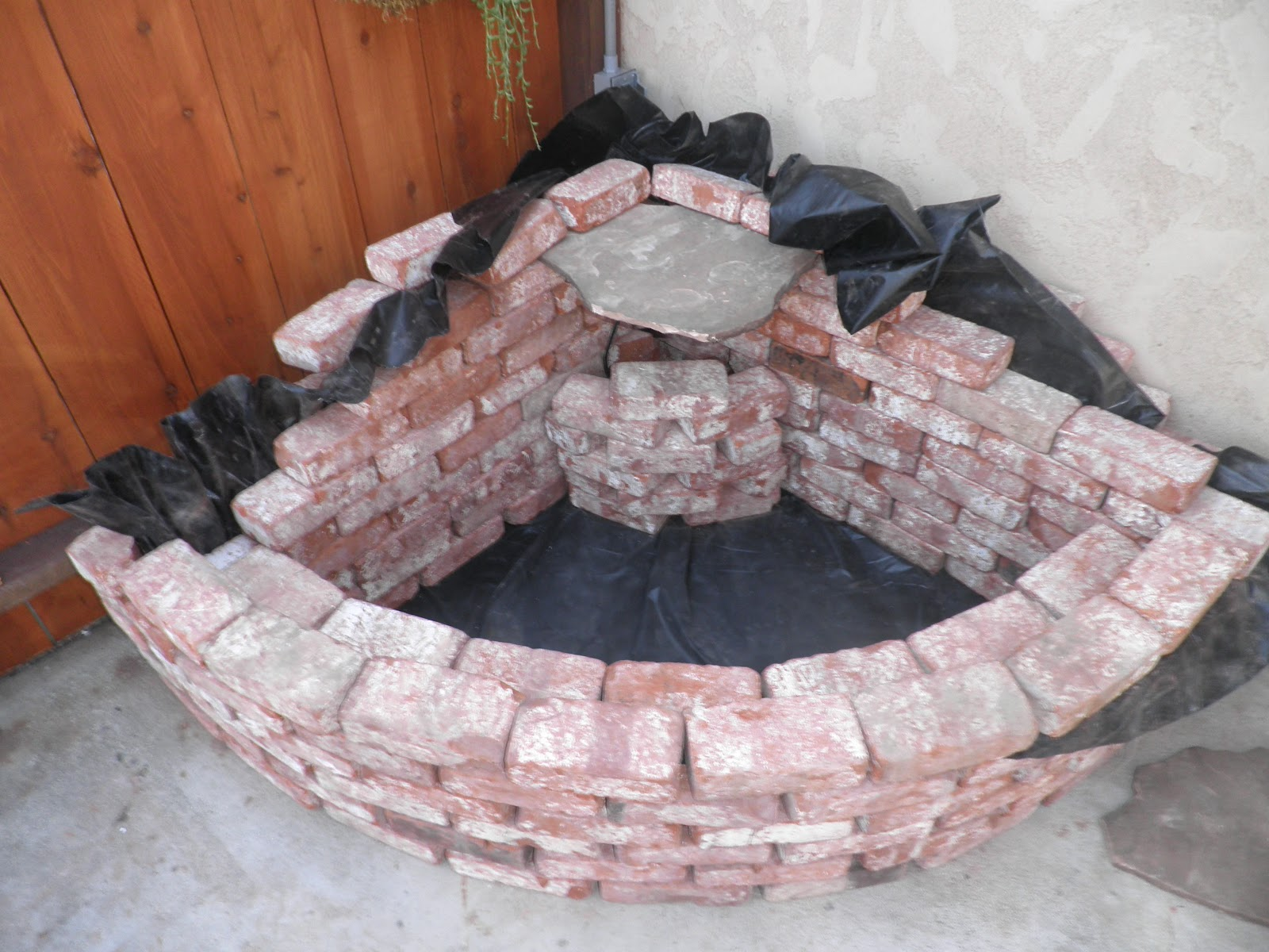 Stringbeadz designs how to build your own brick waterfall for Koi pond liner calculator