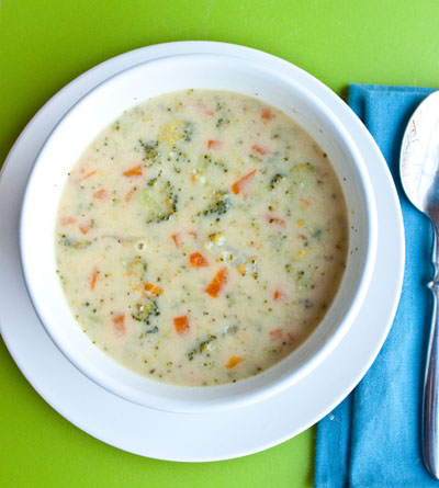 ... thick, creamy, and cheesy soup. Without all of the calories
