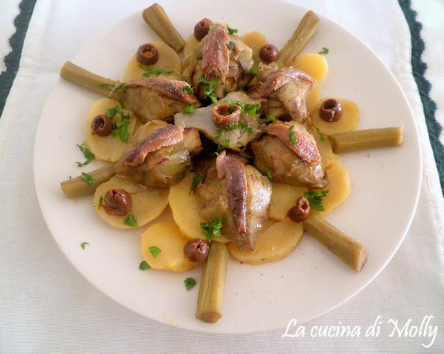 patate e carciofi alle acciughe