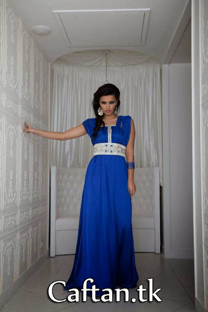 Robe Caftan bleu royale 2013