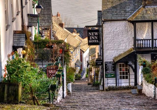 Aldeia Clovelly - Distrito de Torridge, Devon, Inglaterra