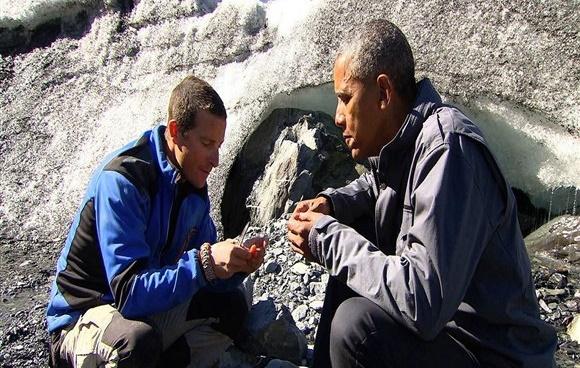 Obama testa seus limites no Alasca com Bear Grylls