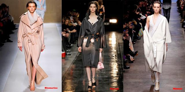 Tendencias mujer otoño/invierno 2013/14 abrigo batín: Blumarine, Carven y Missoni