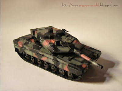 Leopard 2A6 MBT Papercraft - Tank Model