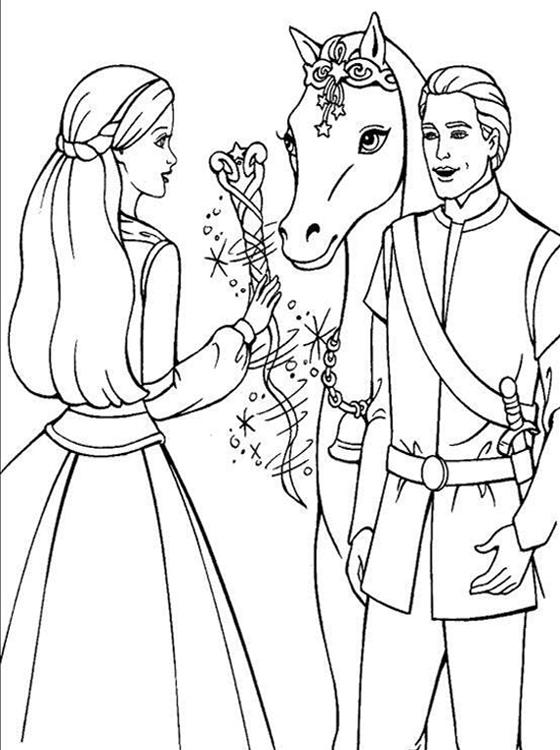 Kids Page Barbie Coloring Pages For Childrens