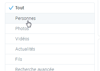 capture d'écran Twitter - recherche