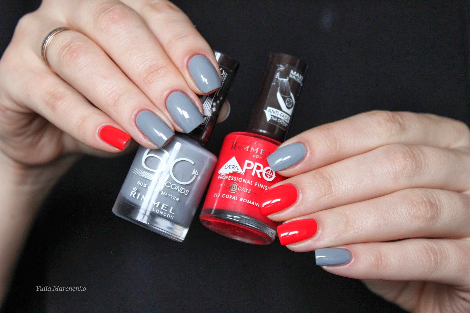 С какими цветами сочетается серый на ногтях
