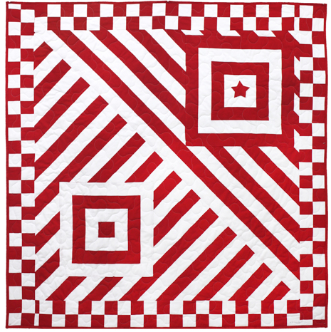 Quilt Patterns Using Stripe Fabric : Quilt Inspiration: Free pattern day! Red and white quilts (part 1)