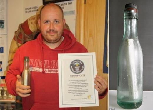 Pesan Tertua Dalam Botol Berhasil Ditemukan