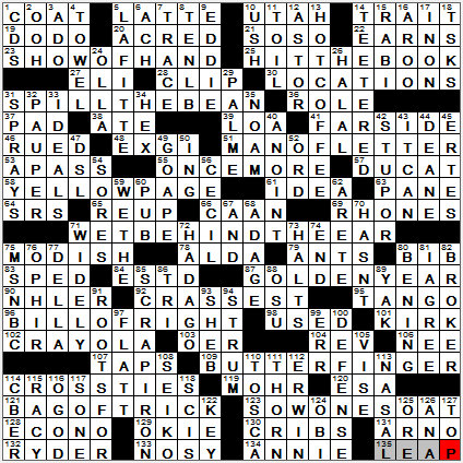 Single minded crossword answers