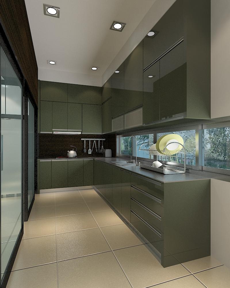 Dry And Wet Kitchen Design Photos: MAZE DESIGN: Ms May's Double Storey Semi-D @ Batu Belah
