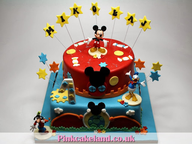 1st Birthday Cake for Kids in London - Mickey Mouse Clubhouse