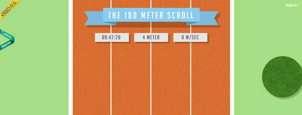 100 mètres chrono avec la souris