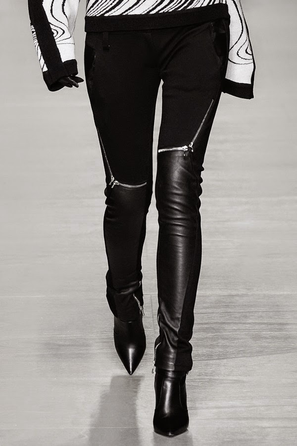 zip leather pants - pointy toe heeled boots