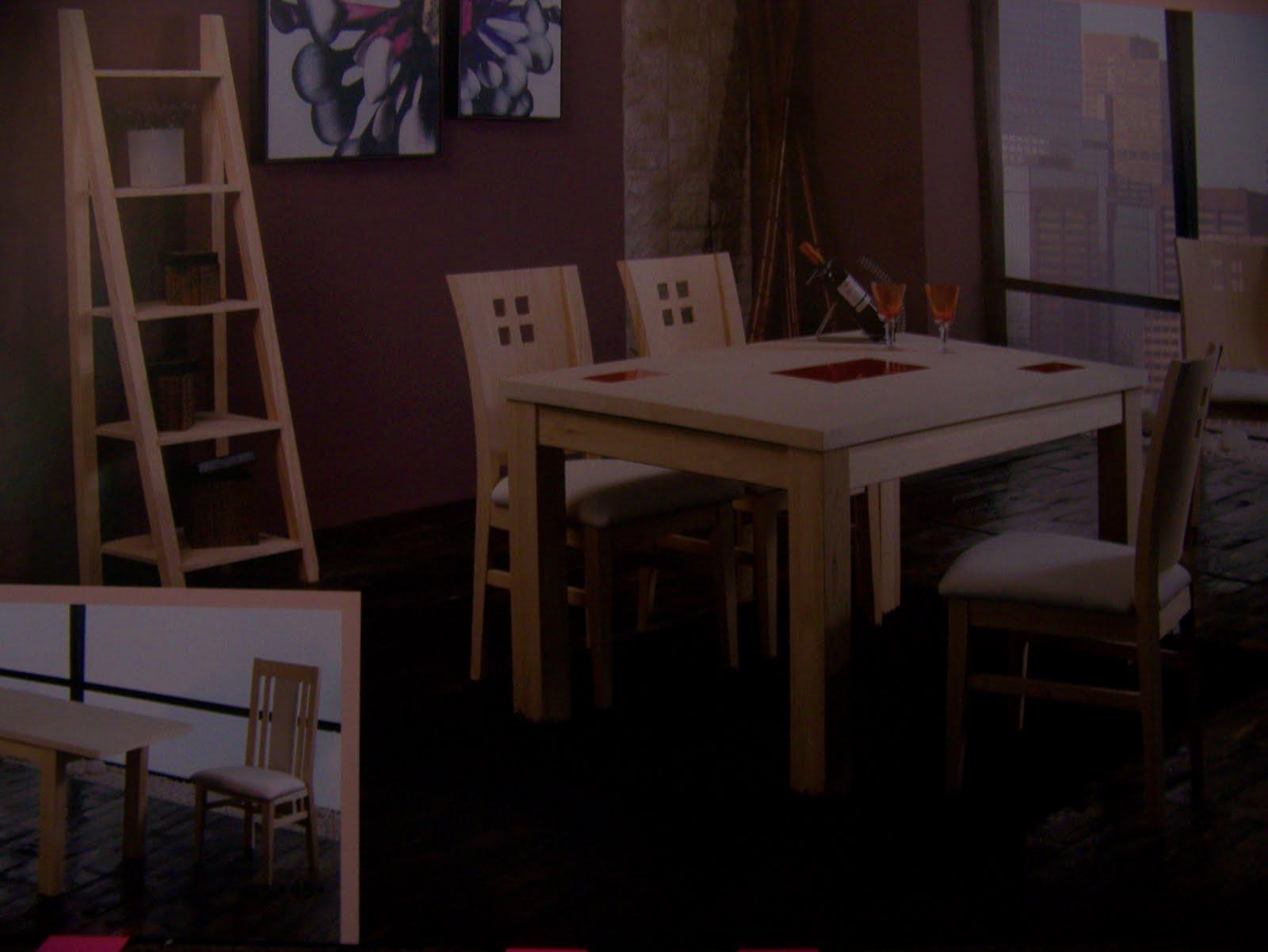 Muebles rosilla herv s mesa de comedor y sillas for Muebles hervas