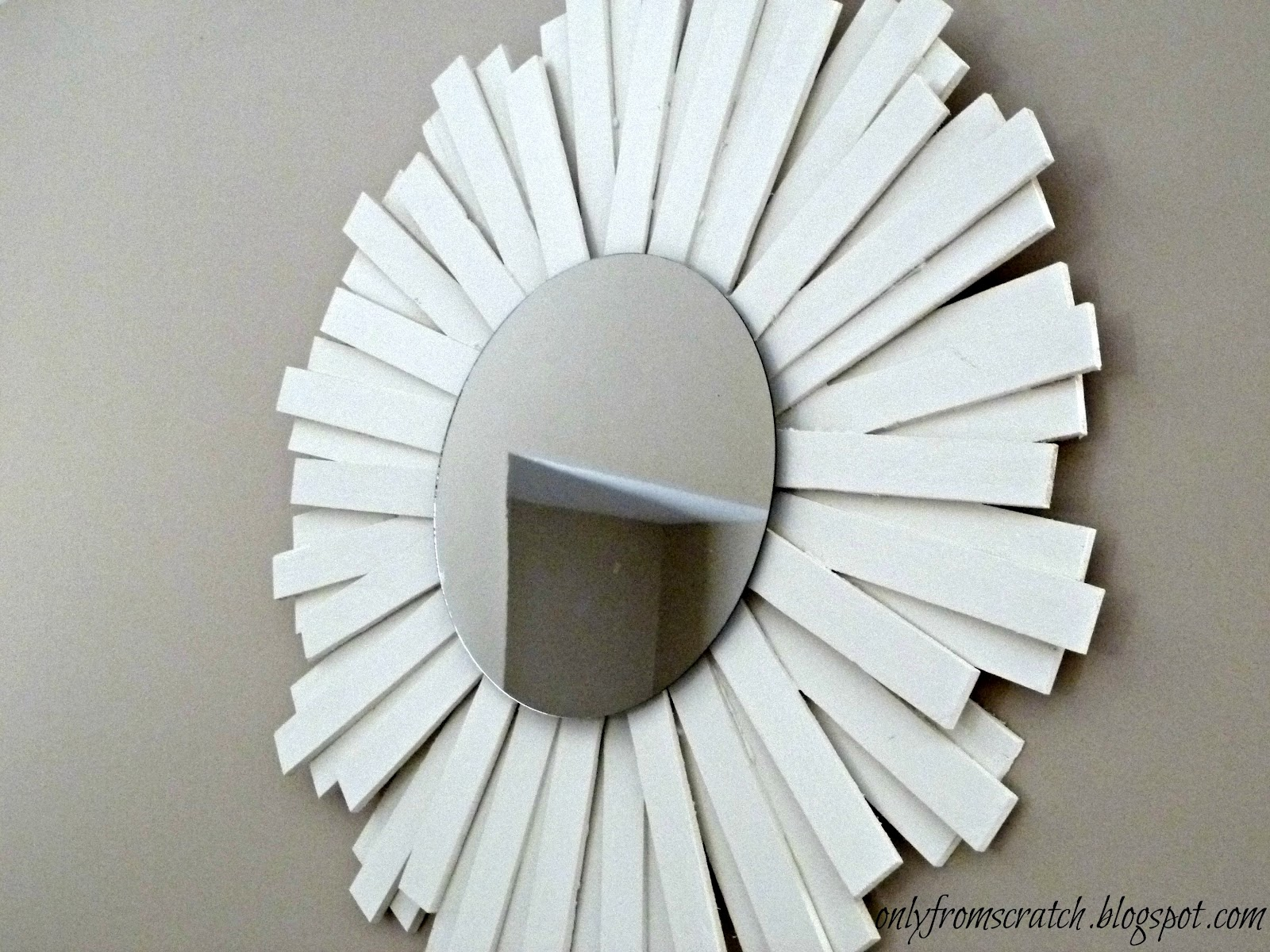 Only from scratch sunburst mirror with wooden shims for Sunburst mirror