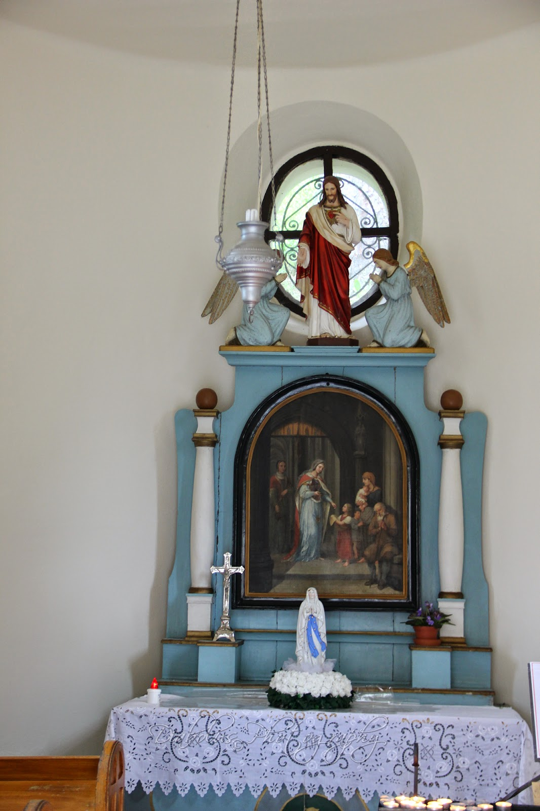 Kaple sv. Alžběty-interiér/The Chapel of St. Elizabeth-interior