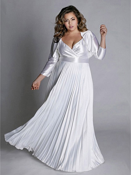 Wedding dresses for fat bride fashion and beauty for Wedding dresses for plus size mature brides