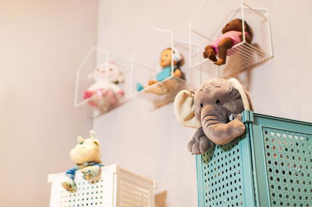 Nichos Decorativos Aramadinhos em quarto infantil