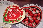 Kotak coklat 'Heart  XL'
