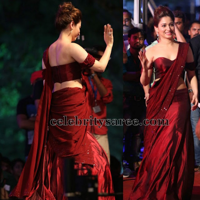 Tamanna Manish Malhotra Half Saree