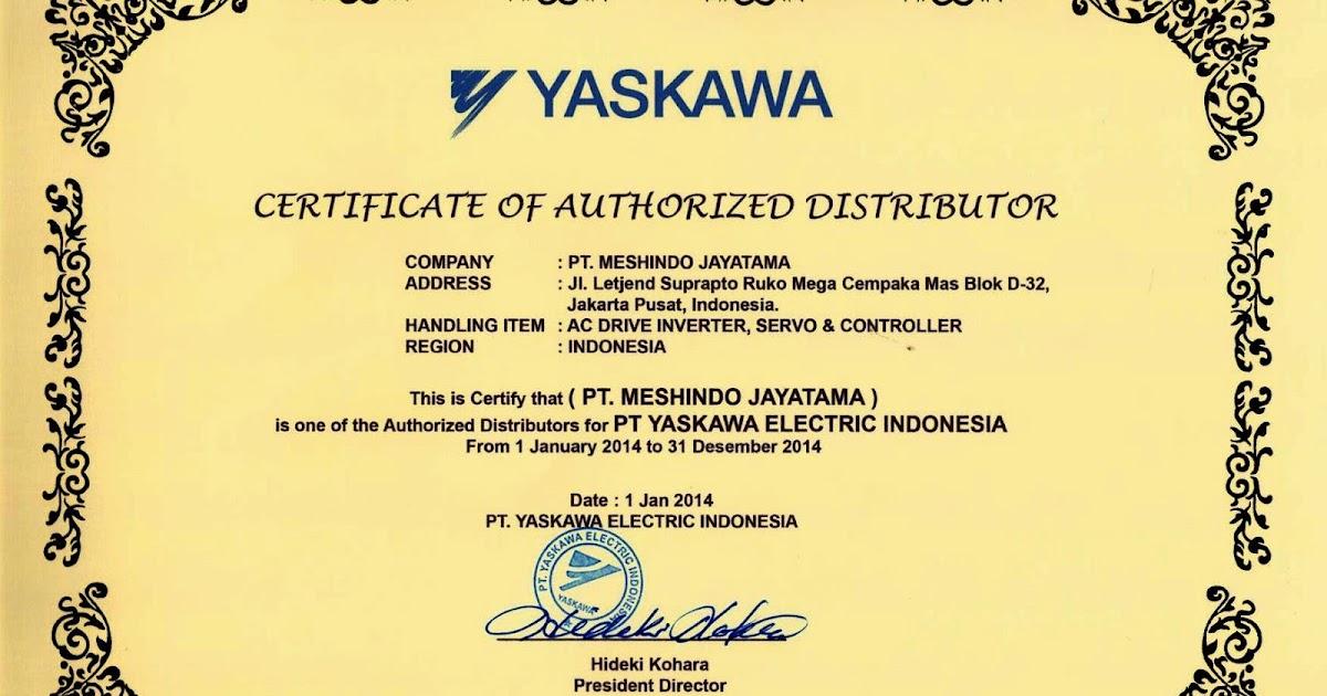 Certificate authorized distributor of yaskawa 2013 2014 altavistaventures Choice Image