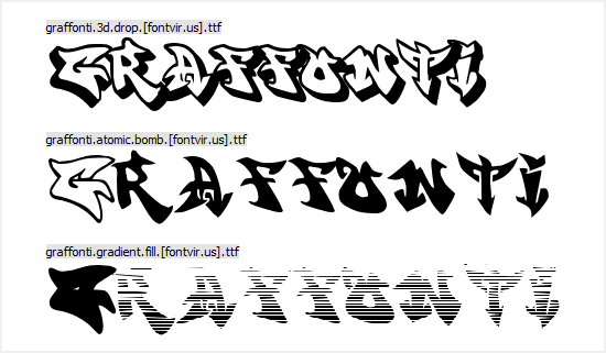Free Graffiti Fonts - Graffonti
