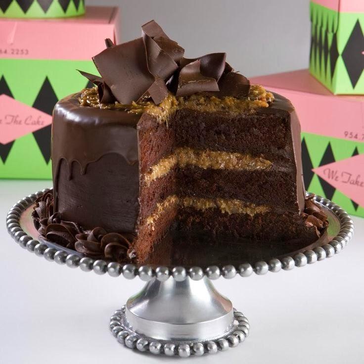 "Popular Pinterest: 9"" German Chocolate cake"