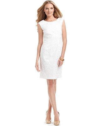 Michael Michael Kors Dress, Sleeveless Sheath Soutache
