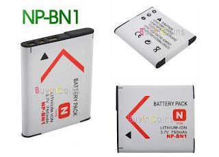 Acumulator 750 mAh, SONY NP-BN1 Camera CyberShot compatibil Sony NP-BN1,