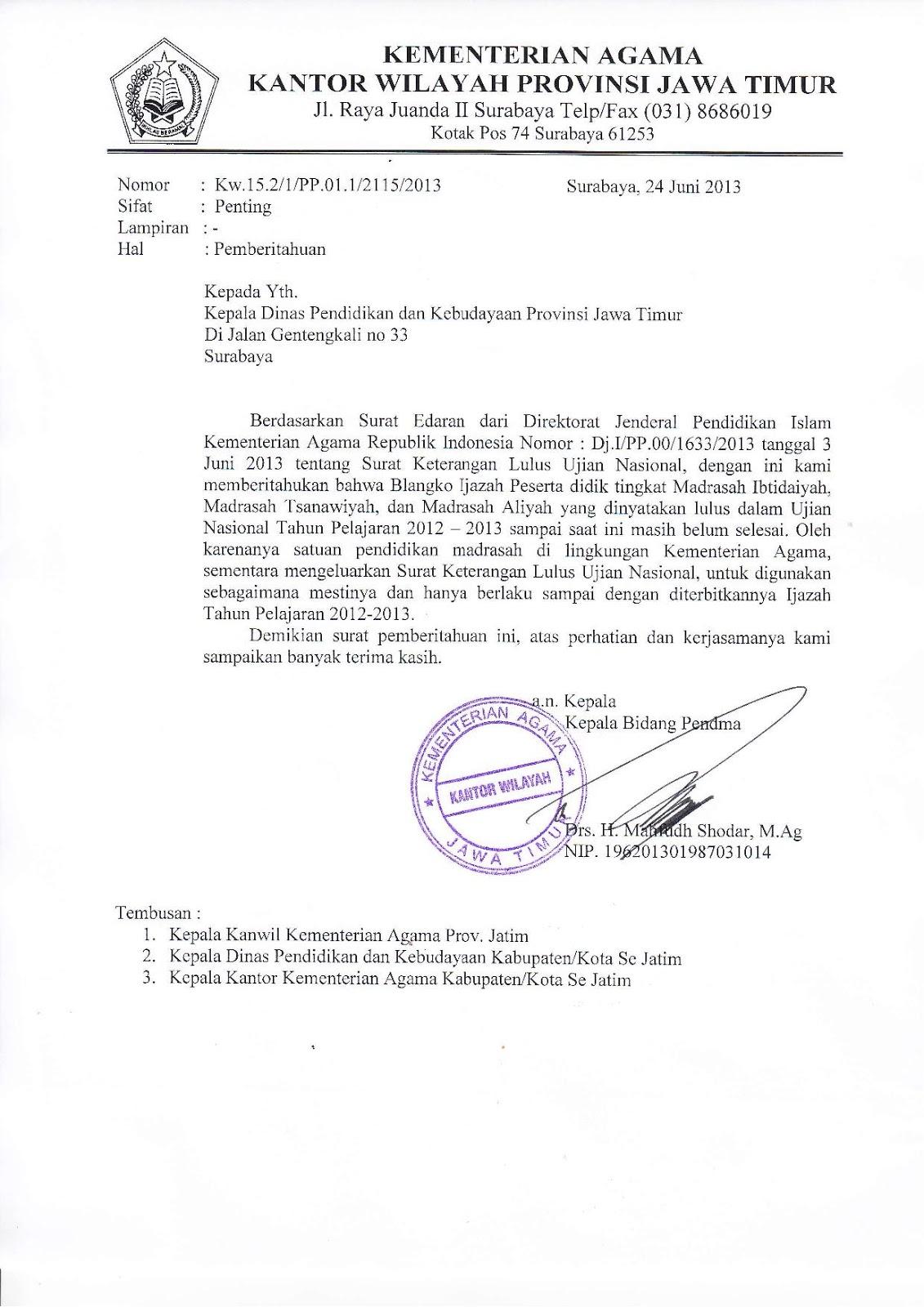 Seksi Pendidikan Madrasah Kankemenag Kab. Pacitan