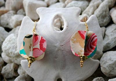 The poetic craft organic recycled jewelry collar y aretes de papel de algod n pintado a mano - Papel pintado a mano ...