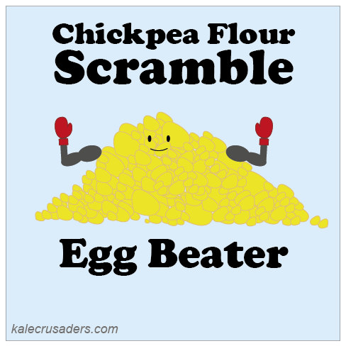 Chickpea Flour Scramble, Besan Scramble, Garbanzo Flour Scramble, Gram Flour Scramble Egg Beater
