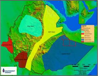 Ogaden Oil Ethiopia Southwest