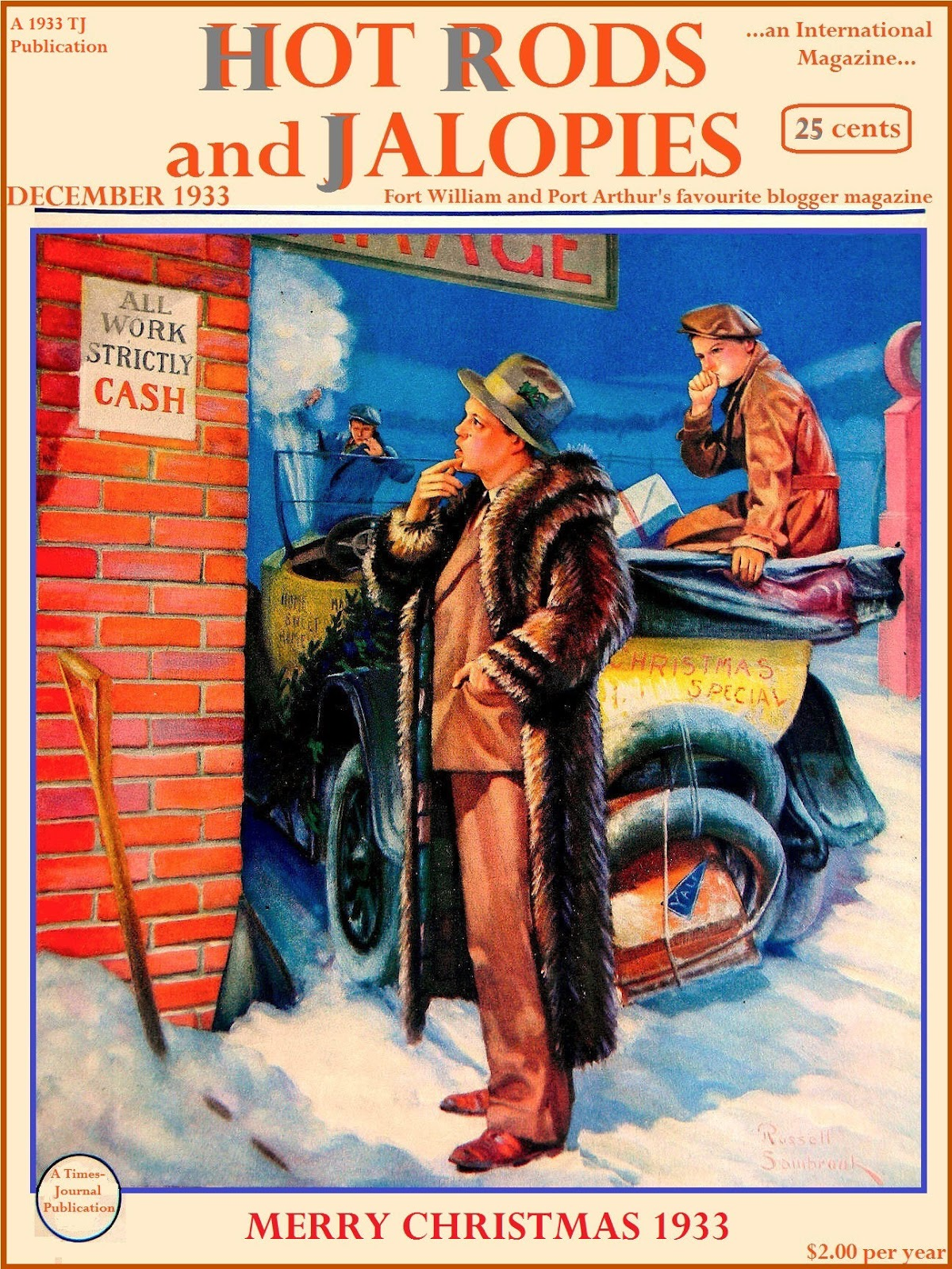 HOT RODS and JALOPIES: First 2015 Christmas Post...tongue in cheek ...