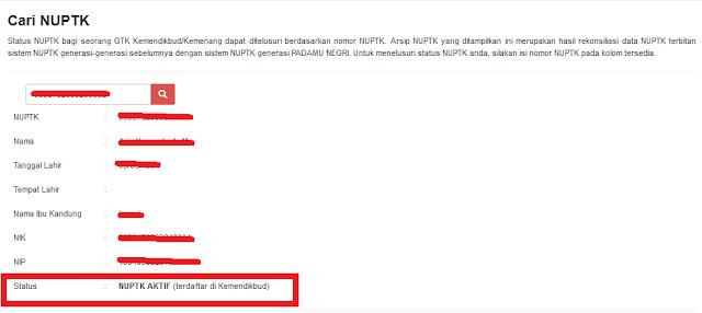 Daftar Calon Penerima NUPTK melalui Aplikasi VervalGTK