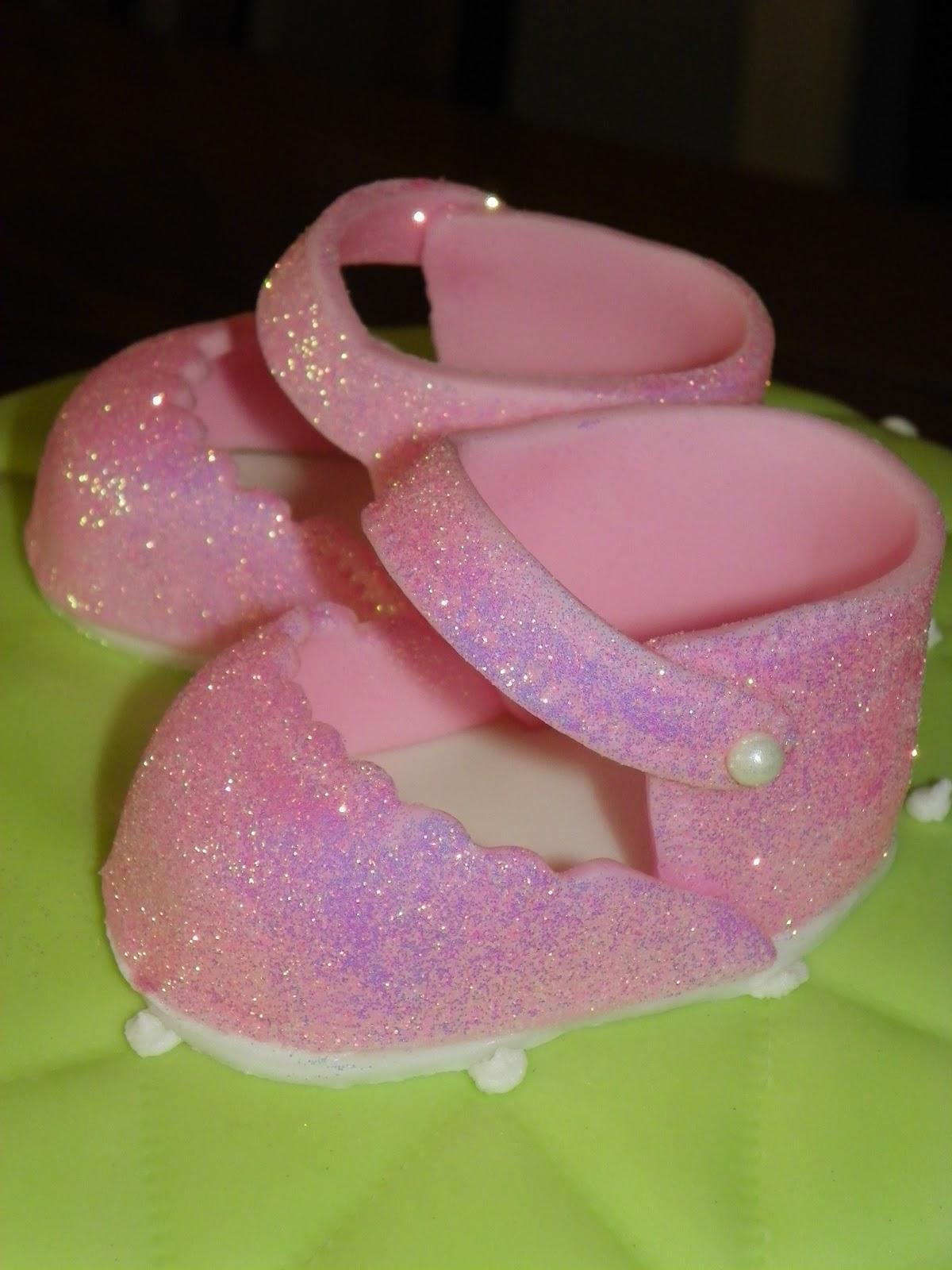 plumeria cake studio pink and green baby girl shower cake