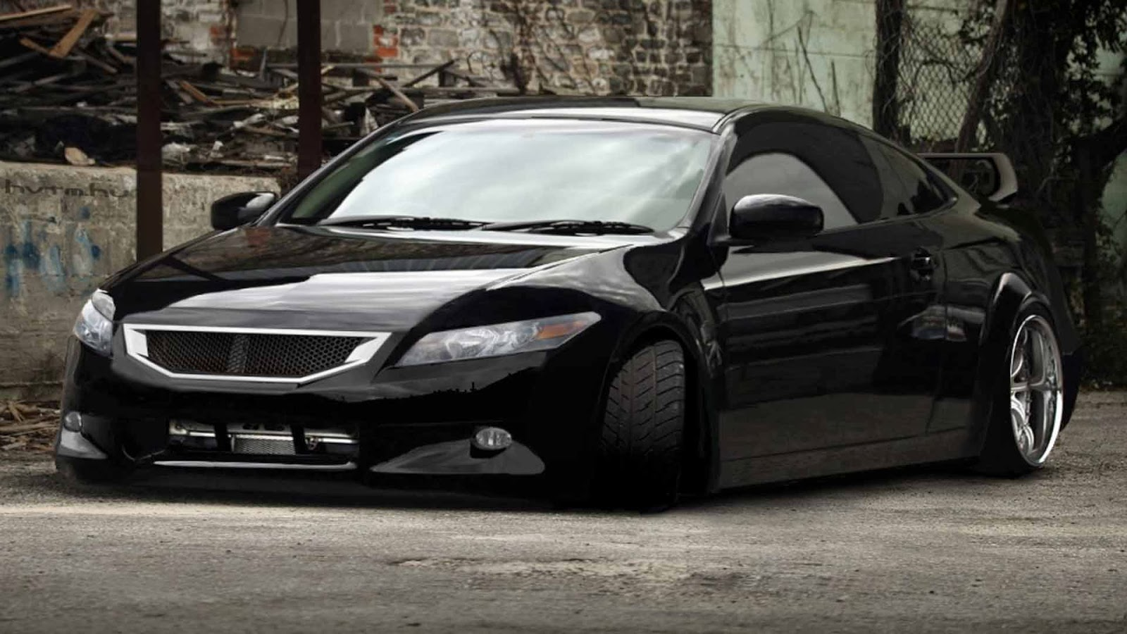 2011 Honda Civic Negro Modificado Para Carreras Carros Usa