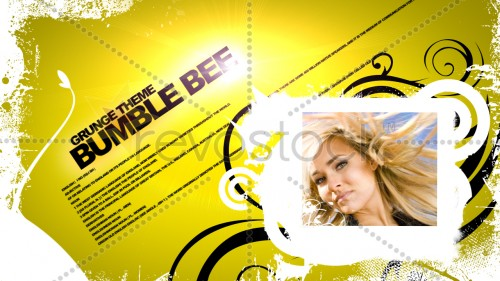 Revostock Bumble Bee Grunge Theme