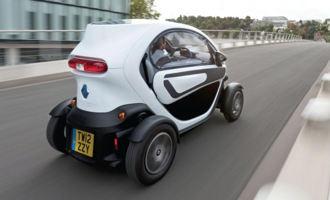 Renault Twizy with windows