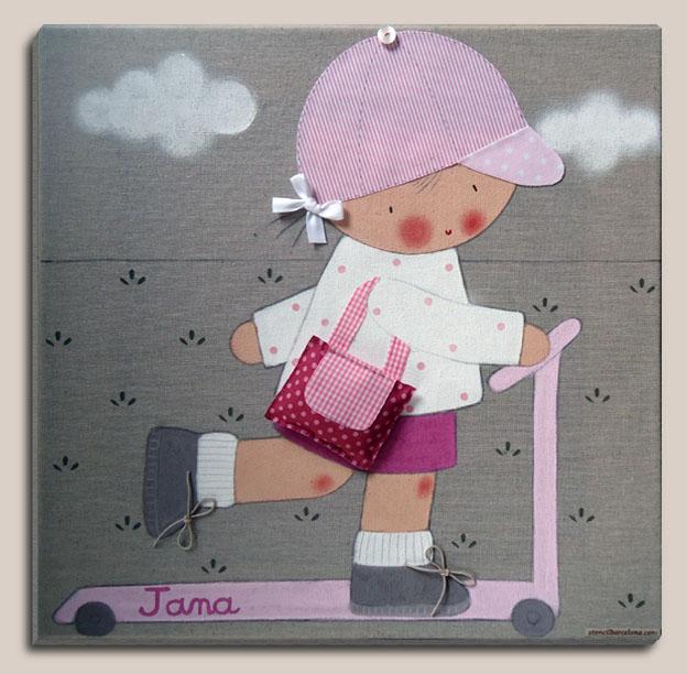 Cuadros personalizados cuadro infantil para jana - Cuadros para habitaciones infantiles ...
