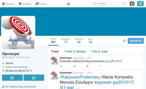 Laman Twitter Dipotargets - Dipopedia