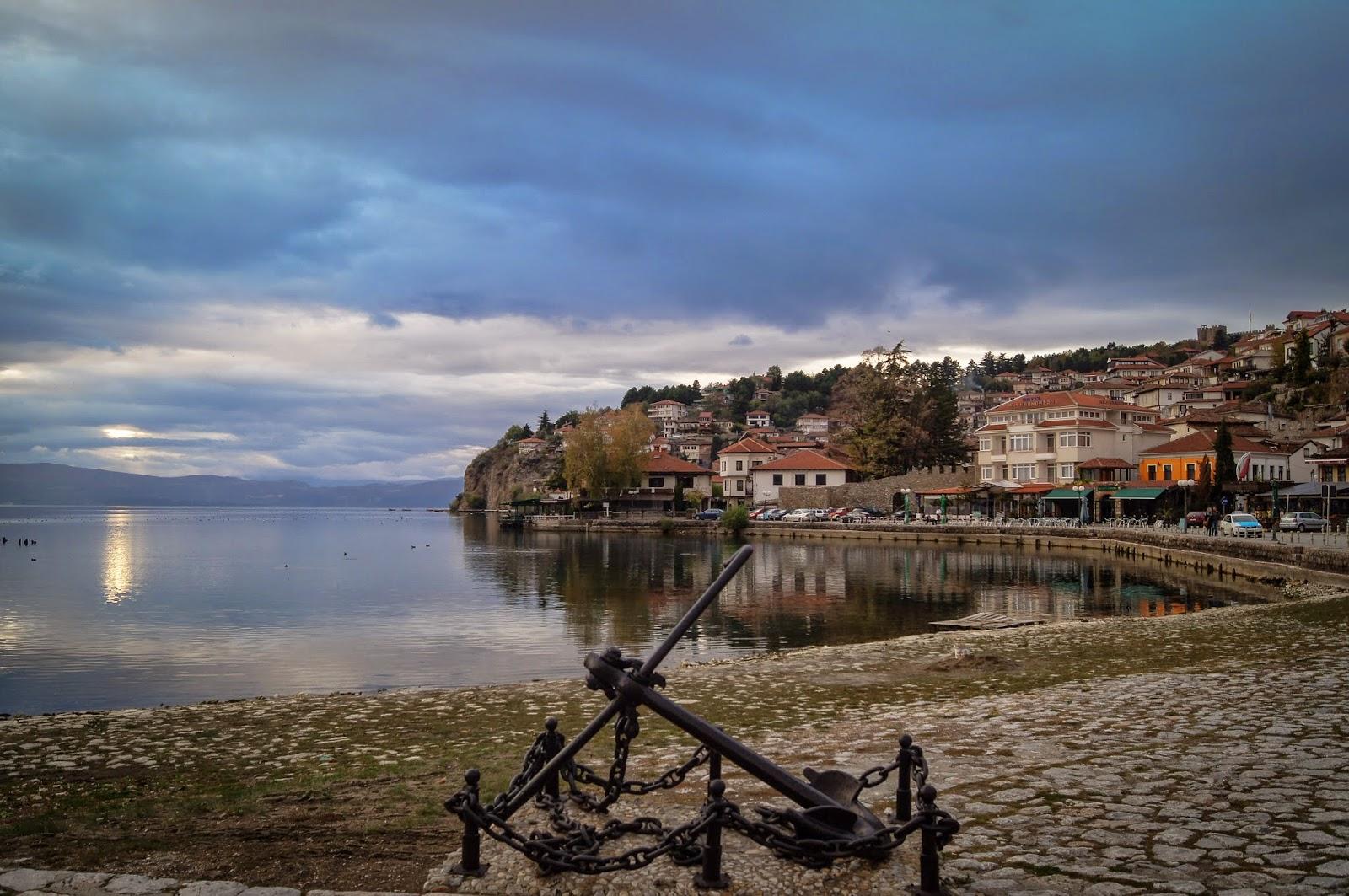 vistas del lago Ohrid