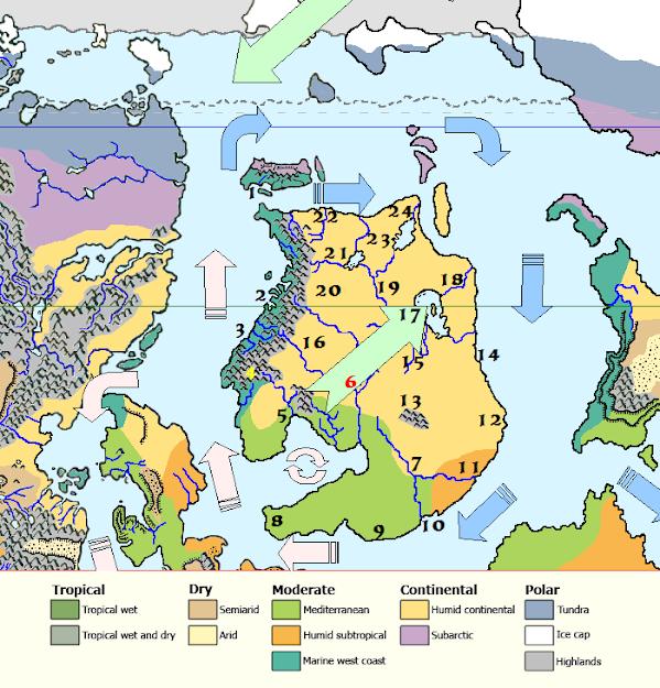 Mystara Alphatia Climate Map
