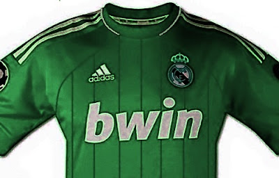 Real Madrid green away kit for Champions League 2012-2013