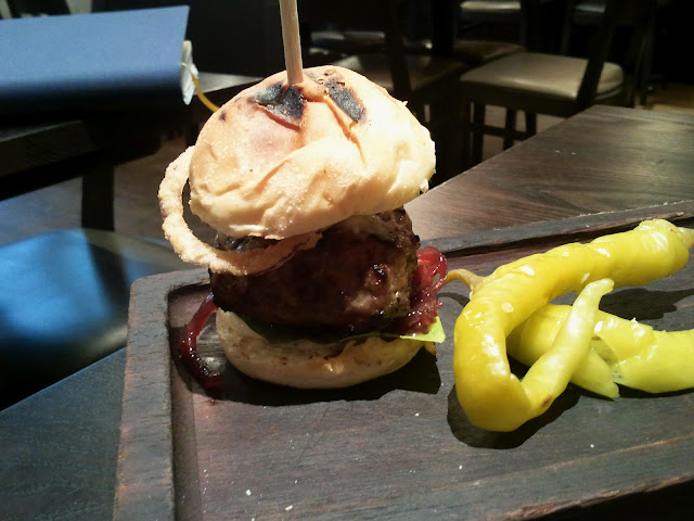 The Opera Tavern Mini Iberico Pork and Foie Gras burger