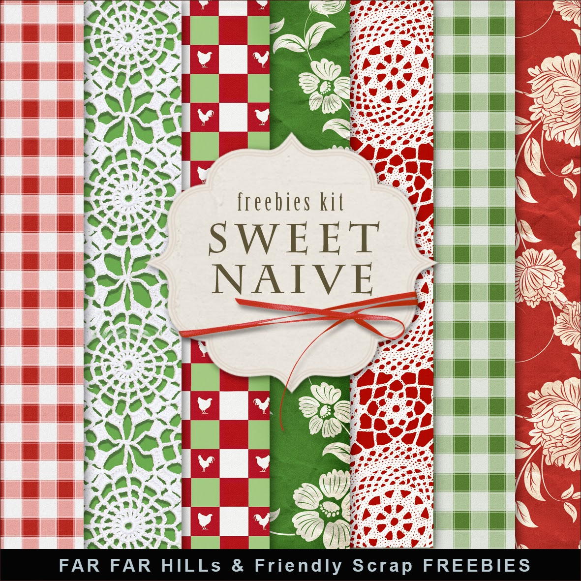 New Freebies Kit of Background - Sweet and Naive