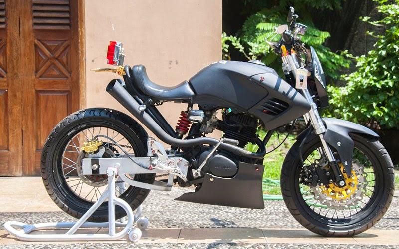 Honda CB 125 Modif Minor Fighter
