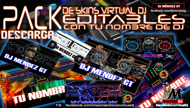 PACK DE SKINS EDITABLES PARA VIRTUAL DJ